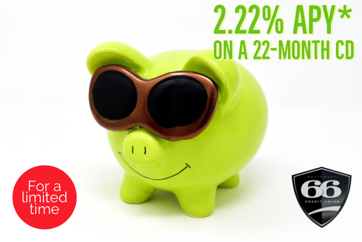 2.22% APY on a 22 month CD
